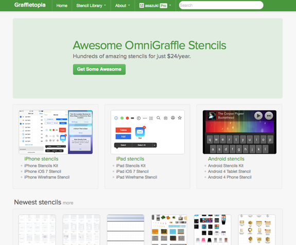 Awesome OmniGraffle stencils | Graffletopia